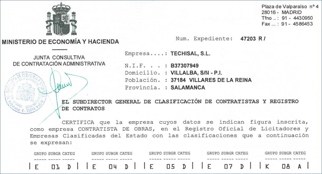 Clasificaciones techisal s l techisal s l for Empresas de reparaciones del hogar en madrid